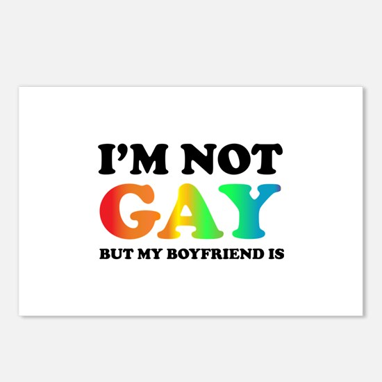 I'm not gay but my boyfriend is Postcards (Package