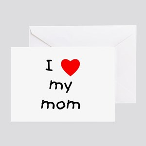I love my mom Greeting Cards (Pk of 10)