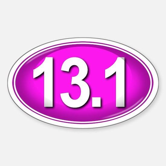 13.1 PINK Marathon Sticker (Oval)