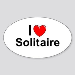 Solitaire Sticker (Oval)