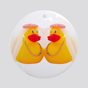 DUCK BRIDES Ornament (Round)