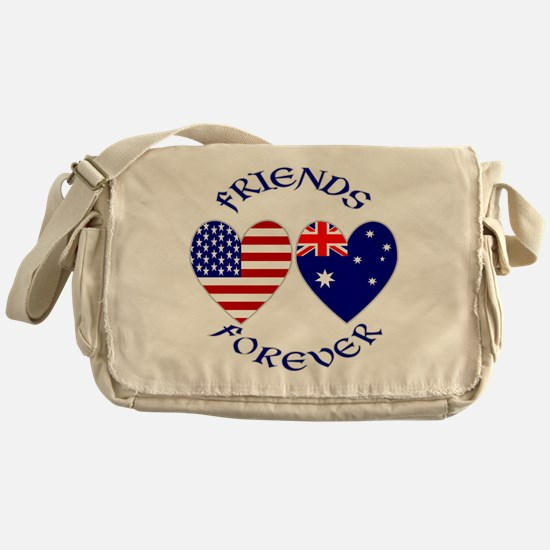 Australia USA Friends Messenger Bag