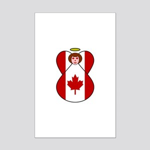 Canadian Flag Angel Mini Poster Print