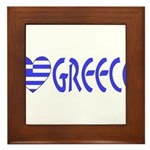 Greek Flag Heart & Greece Framed Tile