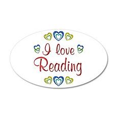 I Love Reading 22x14 Oval Wall Peel