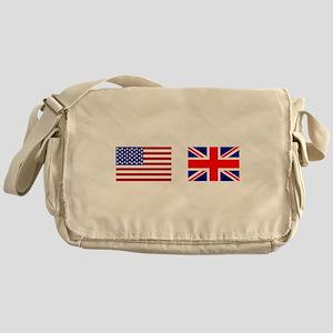 USA & Union Jack Messenger Bag