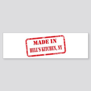 MADE IN HELL'S KITCHEN, NY Sticker (Bumper)