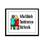 Next to You Framed Panel Print