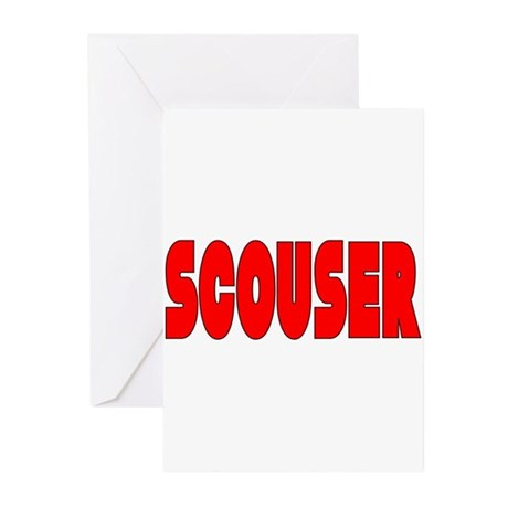 Scouser in Red w/ Black Greeting Cards (Pk of 20)