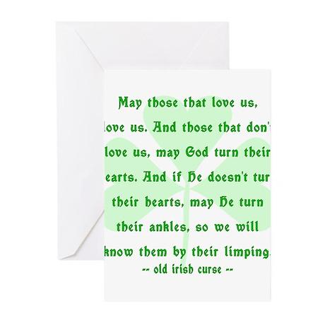 Irish Curse or Toast Greeting Cards (Pk of 20)