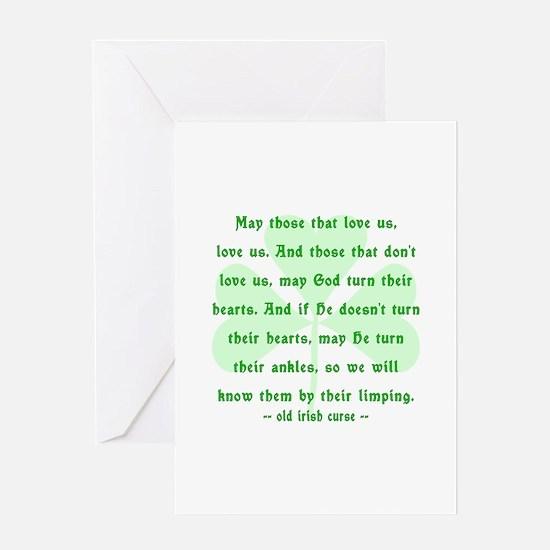 Irish Curse or Toast Greeting Card