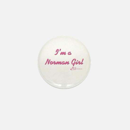 Norman Girl Mini Button
