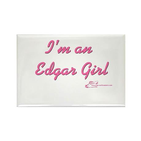 Edgar Girl Rectangle Magnet