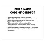 Guild Name Code of Conduct small poster