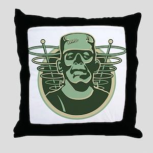 Retro Frankenstein Throw Pillow