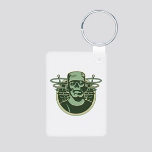 Retro Frankenstein Aluminum Photo Keychain