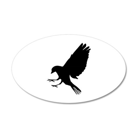 Bird 22x14 Oval Wall Peel
