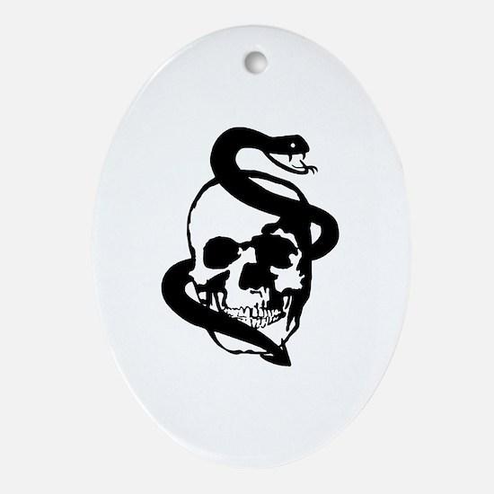 Skull Snake Ornament (Oval)