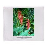 Double Sided Heliconia Throw Blanket