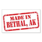 MADE IN BETHAL, AK Sticker (Rectangle 50 pk)