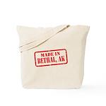 MADE IN BETHAL, AK Tote Bag