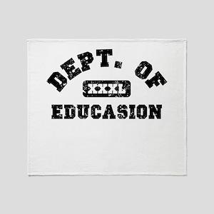 Dept. Of Educasion Throw Blanket