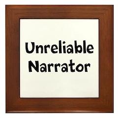 Unreliable Narrator Framed Tile