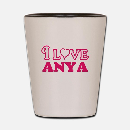 I Love Anya Shot Glass