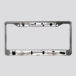 Gym Equipment License Plate Frame