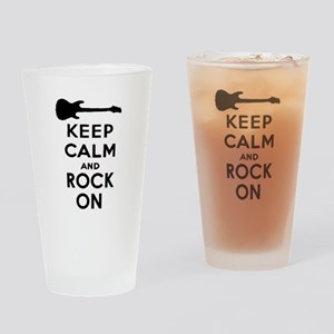 ROCK ON Drinking Glass