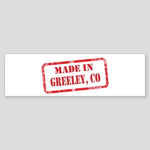 MADE IN GREELEY, CO Sticker (Bumper)
