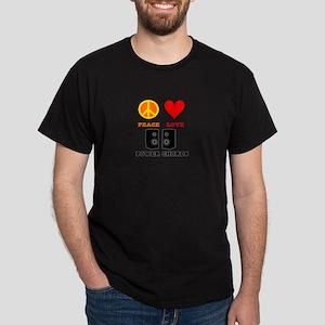 Peace Love Power Chords Dark T-Shirt