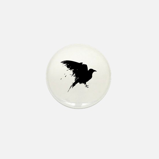 Grunge Bird Mini Button