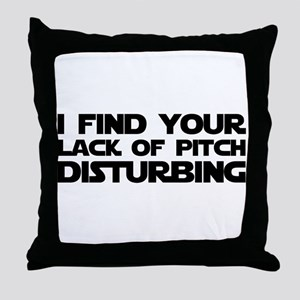 Lack of Pitch Throw Pillow