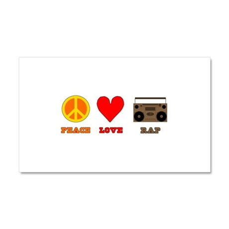Peace Love Rap Car Magnet 20 x 12
