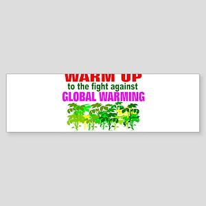 Warm 2 war on global warming Sticker (Bumper)