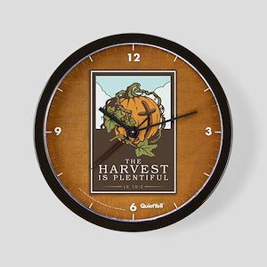 The Harvest Is Plentiful Wall Clock