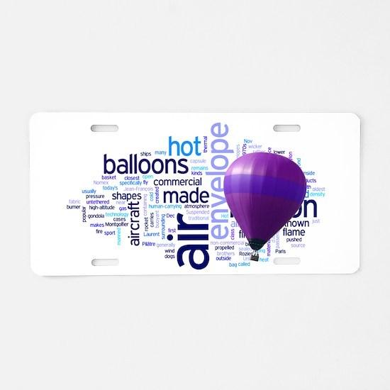 Cute Hot air ballooning Aluminum License Plate