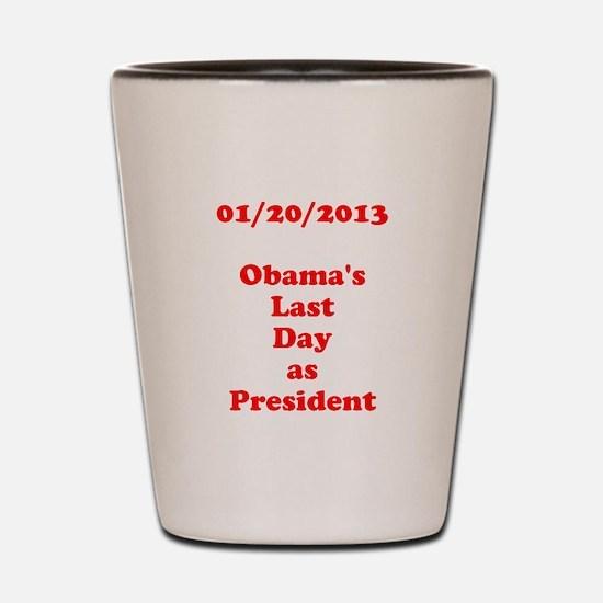 1/20/2013 - Obama's last day Shot Glass