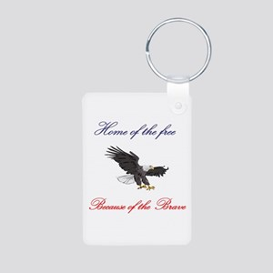 Home of the free... Aluminum Photo Keychain