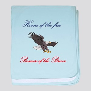 Home of the free... baby blanket