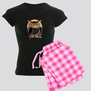 Retro Owl Women's Dark Pajamas