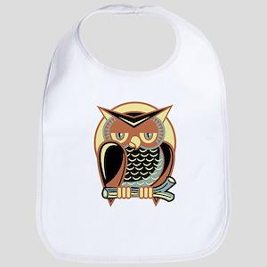 Retro Owl Baby Bib