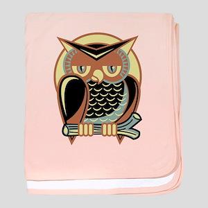 Retro Owl baby blanket