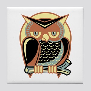 Retro Owl Tile Coaster
