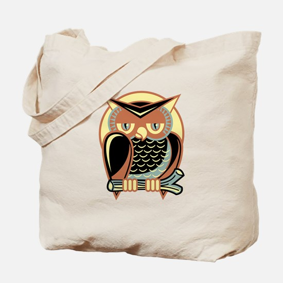 Retro Owl Tote Bag