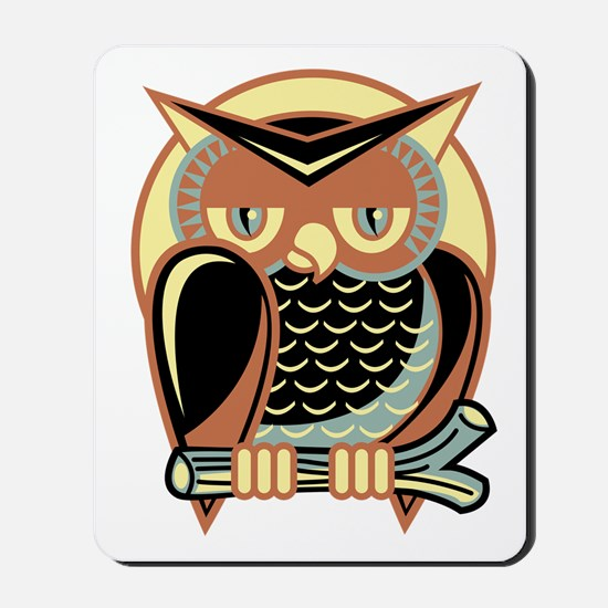 Retro Owl Mousepad