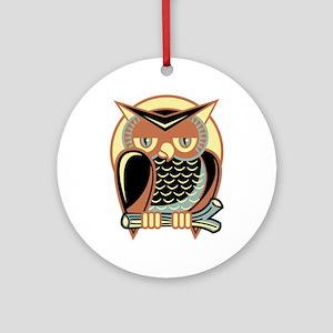 Retro Owl Ornament (Round)