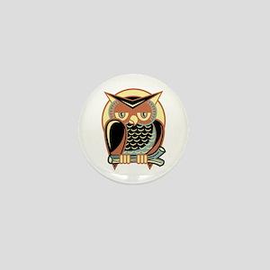 Retro Owl Mini Button