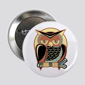 "Retro Owl 2.25"" Button"
